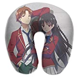 Hdadwy Klassenzimmer des Elite Anime U Kissen Anime Multicolor One Size für Flugzeuge Reisekissen...