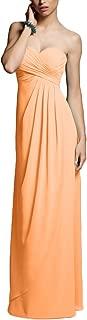 TalinaDress Long Chiffon Sweetheart Empire Strapless Bridesmaid Dress Prom Gown E282LF