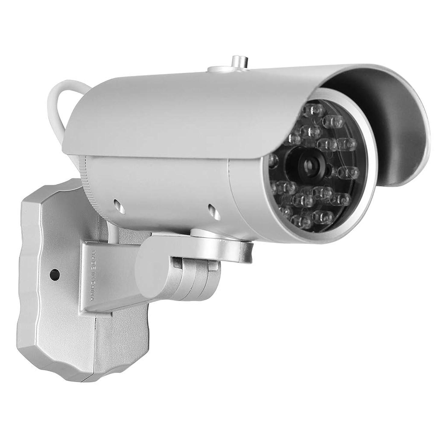 作家バルブテンションダミーカメラ 偽弾丸カメラ MR-1900 ダミーカメラ 監視セキュリティカメラ付き LEDライト点滅 屋外/屋内