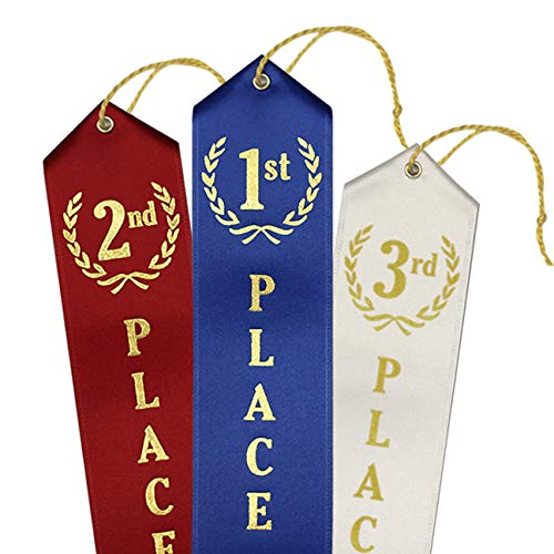 1st - 3rd Place Award Ribbons - 12 Each Place (36 Count Total)