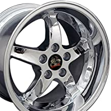 17x10.5 Wheel Fits Ford Mustang - Cobra R Style DD Chrome Rim - REAR FITMENT ONLY