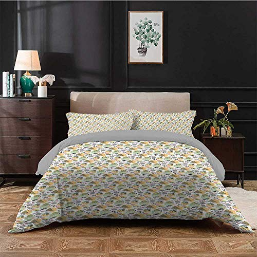painting-home Bedspreads Coverlet Motifs of Eighties and Nineties Memphis Style Pattern with Swirls Triangles Dots Art Bedding Set Make You Melt Whilst Asleep Multicolor - King Size