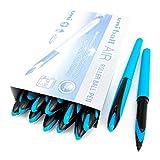 Uni-Ball AIR Micro - Bolígrafo de punta fina (0,5 mm, tinta azul, barril azul claro, caja de 12 unidades)