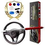 Tevlaphee Steering Wheel Lock For Cars,Car Steering Wheel Lock,Vehicle Anti-Theft Lock,Adjustable Double Hook