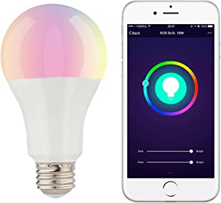 Smart WiFi Light Bulb led Screw E26 DEENKEE 2700k/10w/RGB Adjustable Color Effect, Compatible with Amazon Alexa, Google Home Assistant, and IFTTT, 1 Pack