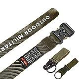 125-140 cinturón de tamaño largo de los hombres táctico militar lona cinturón táctico al aire libre ...