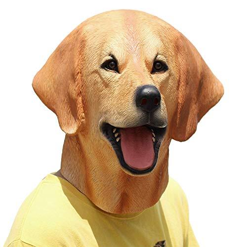 PartyHop Halloween Kostüm Party Tierkopf Latex Masken Hund Labrador
