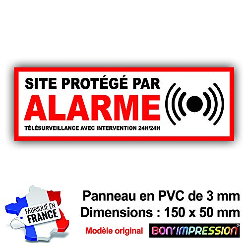 professionnel comparateur OBJET garde-boue, protection d'alarme, PVC 150 x 50 mm + 4 trous pour montage avec texte… choix