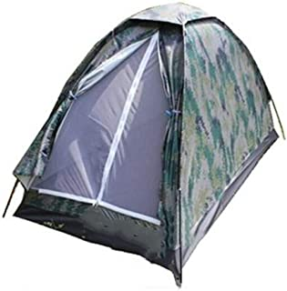 DB Outdoor camping single automatic waterproof tent, outdoor camping training camouflage tent