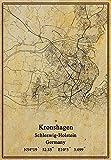 Kunstdruck auf Leinwand, Motiv: Deutschland, Kronshagen, Schleswig-Holstein, Vintage-Stil, ungerahmt, Dekoration, Geschenk, 27,9 x 35,6 cm