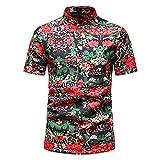 SSBZYES Chemises pour Hommes Chemises D'été à Manches Courtes Et Grandes Tailles Chemises à Manches Courtes Chemises à Fleurs pour Hommes Tops Imprimés T-Shirts pour Hommes Tops à La Mode