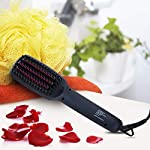 Beauty Shopping Ionic Hair Straightener Brush, CNXUS MCH Ceramic Heating + LED Display + Adjustable