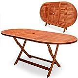 Deuba Gartentisch Esstisch Alabama Klappbar Akazien Holz 160x85cm Holztisch Garten Tisch Gartenmöbel