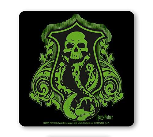 Logoshirt Pelicula - Harry Potter - Mortifago - Logo - Posavasos - Coaster - Coloreado - Diseño Original con Licencia