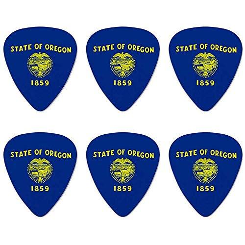 Oregon State Flag Neuheit Plektren Mittlere Spur - Set von 6