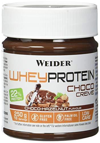 WEIDER Whey Protein Choco Creme, leckerer Schoko-Haselnuss Aufstrich mit 22 Prozent Protein, (12x250g)