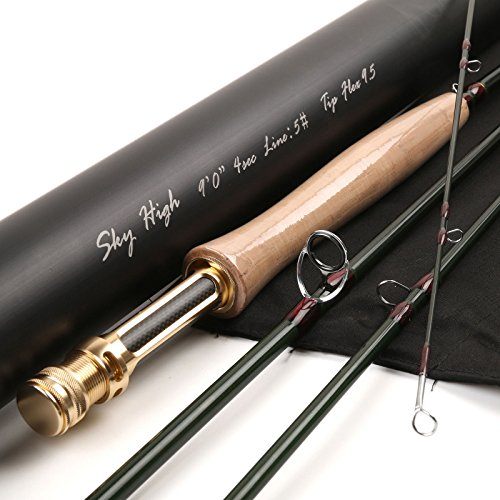 Maxcatch Sky High Series Fly Rod Best Trout Fly Fishing Rods(Size:3/4/5/6/7/8wt) (9' 5wt)