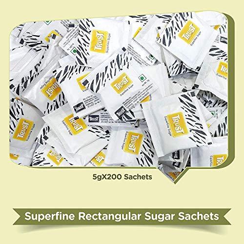 Trust Superfine Sugar Sachets White Pouch, 1000 g
