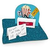 itenga Kinokarte Popcorn Geldgeschenk Gastgeschenk Verpackung Gutschein mit Bodenplatte,...