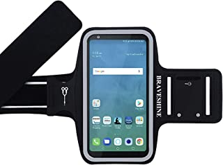 BRAVESHINE Running Armband for Gym Sport Exercise Workout - Phone Holder Armband for LG Stylo 4/Stylo 3, LG G6/G7/G7 G8 Thinq, LG V10/V20/V40, K20 Plus, LG V10/V30/V40, G5 Plus Screen Up to 6.2In