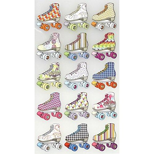 Sticko Classic-Aufkleber-Bright-Inline-Skates