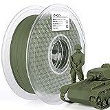 AMOLEN Matte Filament Olive Green, PLA Filament 1.75mm,3D Printer Filament +/- 0.03mm,1kg/2.2lbs