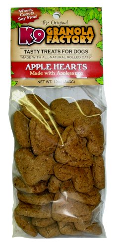 K9 Granola Factory Low Fat Apple Hearts With Applesauce Crunchers