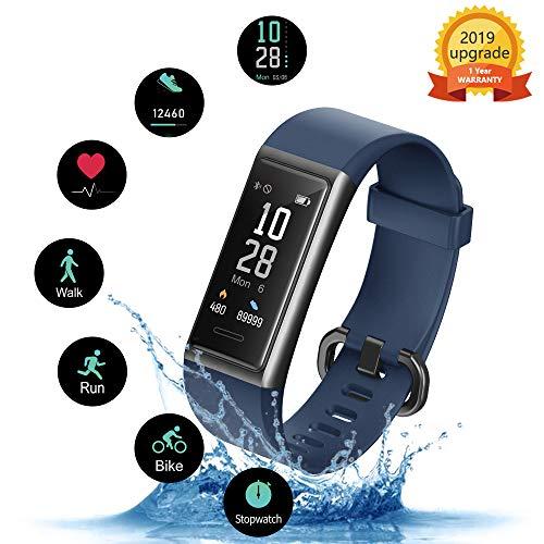 Kungix Pulsera Inteligente IP68 Impermeable Smartwatch, Pulsera Actividad Inteligente con Monitor Ritmo…