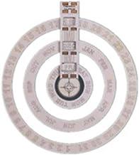 BOBEINI Houten eeuwigdurende kalender ronde muur opknoping kalender roterende schijf voor thuis