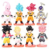 Dragon Ball Cake Topper Pastel Decoración Suministros 8Pcs Goku Figures Dragon Ball Muñeca Hecha a M...