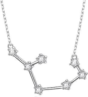 zodiac constellation necklace silver