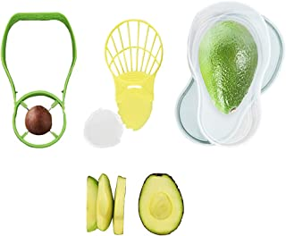 Avocado Slicer and Saver 5 in1 Tools Set-Avocado Cutter/Pitter/Masher/Storage/Container