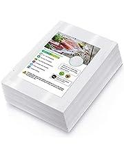Bolsas de Vacio para Alimentos, 100 Bolsas 20x30cm (0.65'x0.98') Bolsas de Vacío de Alimentos, BPA Free, Bolsas de Vacio Gofradas para Conservación de Alimentos y Sous Vide Cocina & Boilable