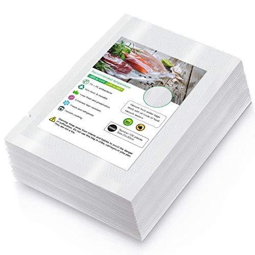 Vakuumierfolie 100 Vakuumierbeutel 20 x 30cm 210 Microns Profi für Vakuumierer & Lebensmittel Vakuumiergerät, BPA-frei, Sehr Stark & Reißfest, Kochfest, Sous Vide geeignet, Wiederverwendbar