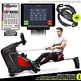 *Sportstech RSX500 Màquina de Rem, Telèfon intel·ligent Control, App Fitness, 12 programes Rem + 4 cardíaca, 16 Nivells Resistència, Manera competició, pulsòmetre Inclòs