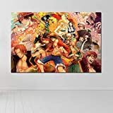 Zcbm Peinture HD Impression sur Toile One Piece Portgas·D· Ace Monkey D. Luffy Animation Affiche Photo Impressions Mur Art Décoration De La Maison pour Le Salon Pas De Cadre,B,60x90cm