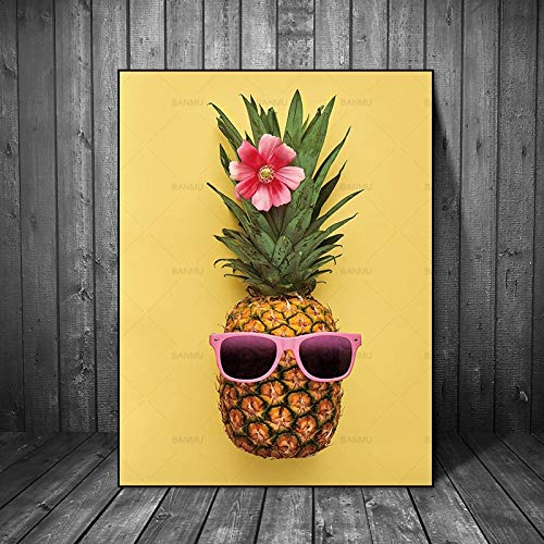 Leinwand wandkunst Bild Ananas Wand dekorative malerei dekorative malerei Poster Kunst Foto Wohnzimmer wandbild rahmenlose malerei 60x90 cm