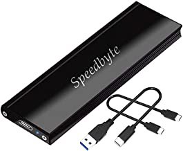 M.2 NVMe SSD Enclosure  - Speedbyte Ultra-Slim M-Key to USB3.1 Gen2 Type-C 10Gbps External Hard Drive Case. Applicable to Size 2242/2260/2280 for Samsung 960/970EVO/PROWD NVME SSD