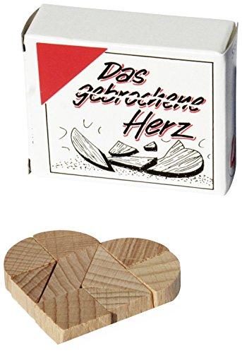 toys-for-all Das gebrochene Herz - Mini Holz Puzzle Knobelspiel Geduldspiel Klassiker Minipuzzle