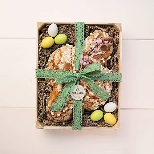 Canasta de pascua | COLOMBA en caja de madera de abeto
