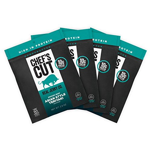 Chef's Cut Real Beef Asian Style Teriyaki Jerky, 2.5 Ounce (4 Pack)