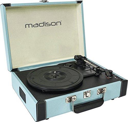 Madison Mad-Retrocase-BLU - Maleta giradiscos