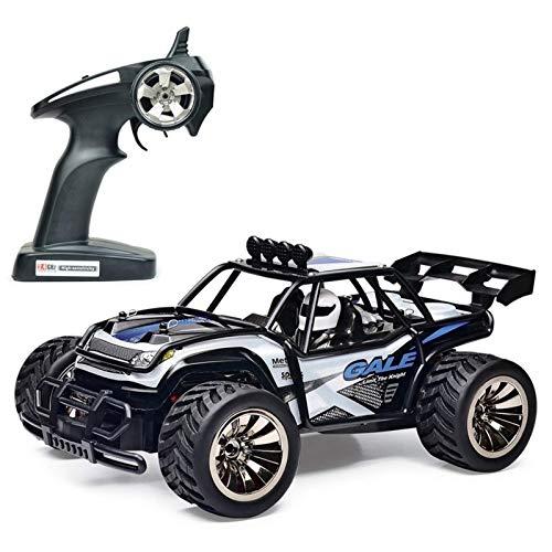 Control remoto de coches, 1:16 RC Cars, 2.4G Buggy Off-Road Camiones juguetes for los niños, de alta velocidad de ascenso de control remoto Vehículo de todo terreno, RTR Bigfoot Monster Truck Racing C