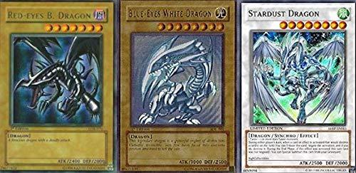 Yu-Gi-Oh!! Blue Eyes White Dragon! Red Eyes B. Dragon! Stardust Dragon! 200 Card Lot! with RARES Guaranteed!