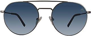 نظارات شمسية باطار دائري وطول ذراع 145 ملم وقطر عدسة 52 ملم وجسر 18 ملم من تمبرلاند - لون اسود موديل TB9123