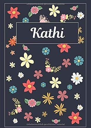 Kathi: Tagebuch Malbuch Notizbuch Journal | 120 Seiten | DIN A4 | Blanko | Geschenkidee