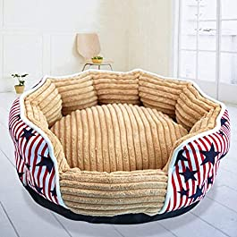 IMBM Catkoo Pet Bed,Calming Round Nest,Dog Bed,Warm Soft Plush Comfortable for Sleeping Winter for Dog Cat, Breathable Cotton Blend,Easy to Clean