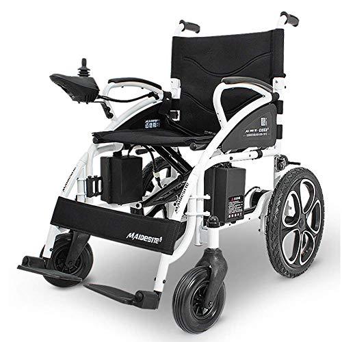 YOLANDE Silla Discapacitados Silla De Ruedas Eléctrica Plegable Ultraligera