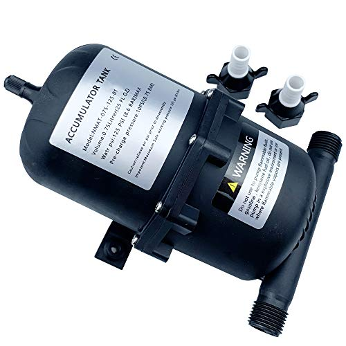 """Accumulator Tank with Internal Bladder - Pre-pressurzied to 10 psi Water Pump Flow Control for RV, Marine, Yacht,Caravan 