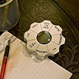 Personalized Matte Silver Decision Maker and Paperweight